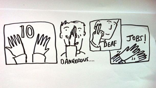 Emily Howlett 10 dangerous jobs for deaf people The Limping Chicken